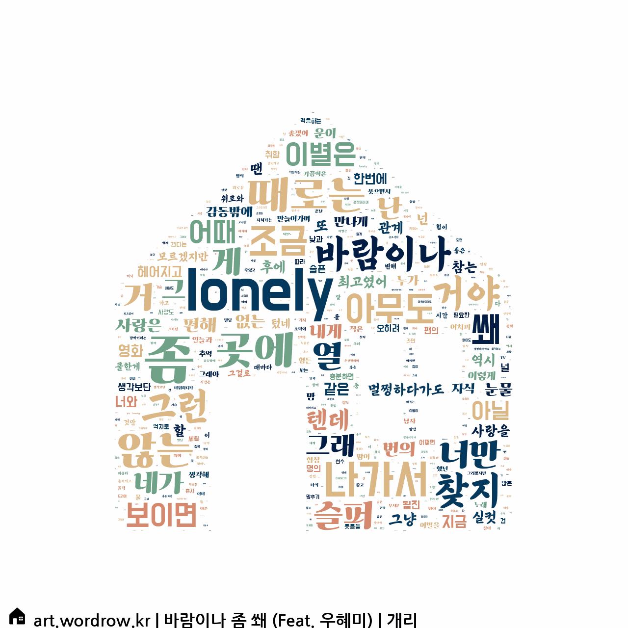 워드 클라우드: 바람이나 좀 쐐 (Feat. 우혜미) [개리]-3